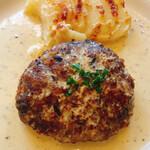 キャセロール - ハンバーグ マスタードソース