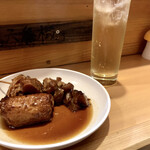 博多のおでん - 料理写真:『餃子巻き&すじ』しゃんにシュワシュワたい!!