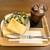 ウィズカフェ - C set(たまごホットサンド+ドリンク)730円