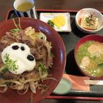 山の駅レストラン - 丹波牛とろ丼 1500円