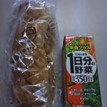 青木屋 - お昼ごはん野菜ジュースと一緒に… メチャメチャ満腹で昼後寝ちゃう(笑)