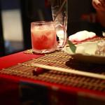 コイブミ - タチウオの焼き物と塩トマトのサワー