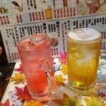 村役場 - バイス、梅酒ソーダ