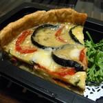 仙台国際ホテル デリカショップ - 夏野菜のキッシュ カレー風味(580円)