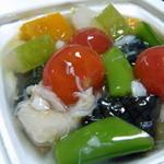 仙台国際ホテル デリカショップ - 夏野菜の冷やし焚き合わせ 蟹あんかけ(650円)