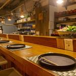 日本酒と和薬膳 ソラマメ食堂 - カウンター席