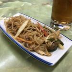 定食のヤシロ - マーボ春雨(170円)この舟皿が、定食ヤシロの象徴