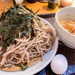 神田 つけ蕎麦 わびすけ - 大盛の麺は山盛り