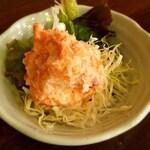 恵美須商店 澄川店 - ポテトサラダ、明太子が入ってピリカラ