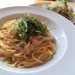パルパスタ - 岡山県産もも肉を使った鶏ごぼうと明太子
