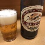 138981708 - とんかつ山家 上野店 「ビール」520円(税込)