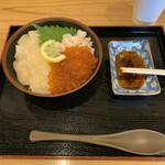 裕太朗寿し - カニ、ホタテ、イクラ北海三色丼 1980円