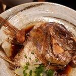 米心 - 真鯛カブトの煮つけ定食 500円(税込) ご飯大盛り無料