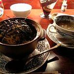139770 - 鯛と山の幸の土鍋鍋焼き飯(和風あんかけ)\700