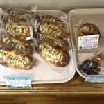 大内山ミルク村 - ソーセージパン 3種のチーズパン