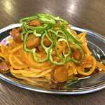肉処 祭り - 鉄板焼き屋のまかないナポリタン*528円(税込)