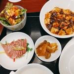 中国料理 桃煌 - 前菜のタン 他の素敵女子が塩味で美味しいと言ってた