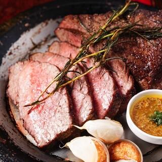 熟成肉、黒毛和牛やブランド豚の本日の特選ステーキ