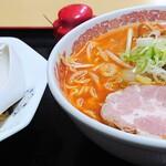 札幌ラーメン 味来 - 「Bセット(辛口ラーメン みそ+ミニチャーハン)」②