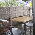 BISTRO INOCCHI - 窓の外はテラス席です