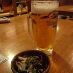 居酒屋 芋兄ちゃん - 料理写真:お通しとビール