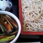 蕎麦処渥美 - 鶏汁?鶏団子汁? 950円