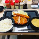 松のや - ミルフィーユかつ&海老フライ定食