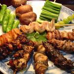 元祖 うな鐡 - うなぎ串焼一通り及び野菜焼き