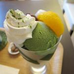 牛島製茶 和cafe Leaf Heart - 抹茶パフェ 630円
