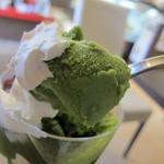 牛島製茶 和cafe Leaf Heart - 抹茶アイス 濃厚な味