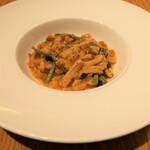 139036967 - カサレッチェ ギアラとホウレン草の煮込みソース