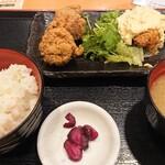 水炊き・焼き鳥 とりいちず - 唐揚げと南蛮漬け合い盛り定食 550円
