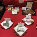 梅花亭 - 陳列棚の和菓子