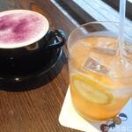 OPEN NAKAMEGURO - PURPLE LATTE&自家製レモネード
