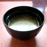 マルナカ - ホルタマ丼の味噌汁