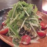 こ卯さぎ亭 - 「そばサラダ」(ハーフで¥490):プチッとサクッと、ツルッと!食感の愉しさの中に爽やかな香り♪
