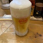 沖縄食堂チャンプル×チャンプル - さしおり、オリオンでっ!きんっきんっに冷えてます!