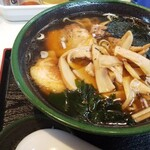 つくしん坊 - 料理写真:チャーシュー麺+メンマ        ザ-前沢ブラック!