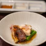 鳥田中 - 2020.10 叩き盛り合わせ(七谷地鶏胸肉、七谷地鶏腿肉、七谷鴨ハツ)