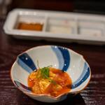 鳥田中 - 2020.10 七谷地鶏胸肉ヅケ黄身醤油