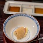 鳥田中 - 2020.10 冷製蒸し無花果 八丁味噌のアイス