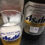 牛もつ鍋 川端 - ビール ( ´θ`) スーパードライ