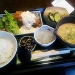 魚山亭 - 昼/ちきん南蛮定食1200円+冷汁にグレードアップ200円