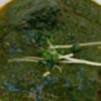 シディークパレス - ほうれん草をたっぷり使用したラムスピナッチ。女性に人気のカレーです。