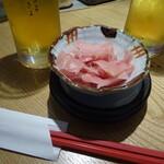 京都スタンド きよきよ - お通しが食べ放題ガリ