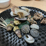 炉端と串カツ テツオ - 貝煮盛り合わせ