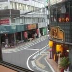 エヌプラスカフェ - 窓からの風景 好きなお店達