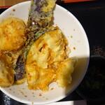 tempuratosakanatempurasakabakitsune - ランチのとり天丼
