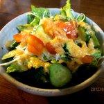 カフェ 呂久呂 - ドレッシングが美味しいサラダ!(2012,07/09)