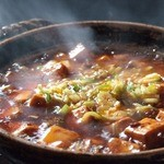 極上XO醤ソースの麻婆豆腐~土鍋仕立て